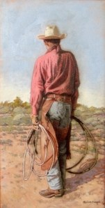 Cowboy Brent Back - Oil Painting by Nathan Pinnock