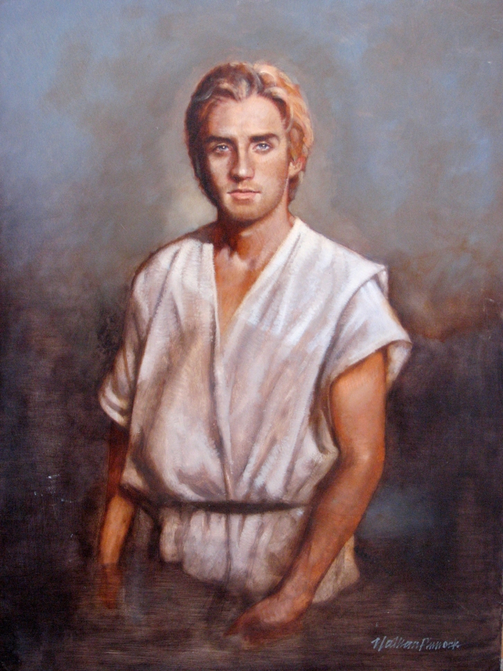 John the Baptist - Oil Painting by Nathan Pinncok