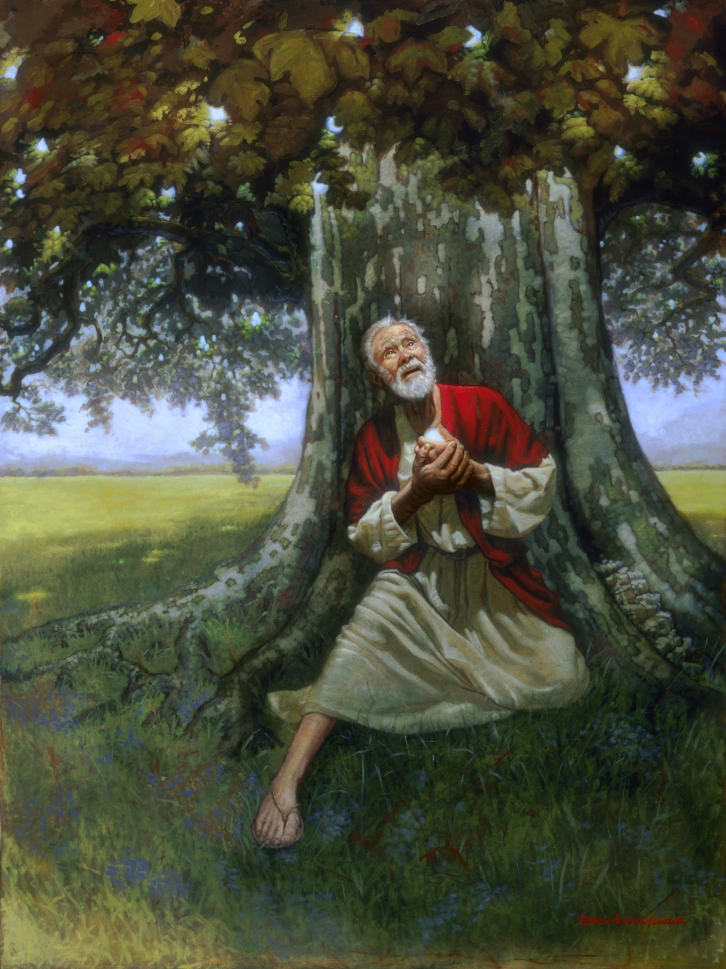 Lehi and the love of God - Oil Painting by Nathan Pinnock