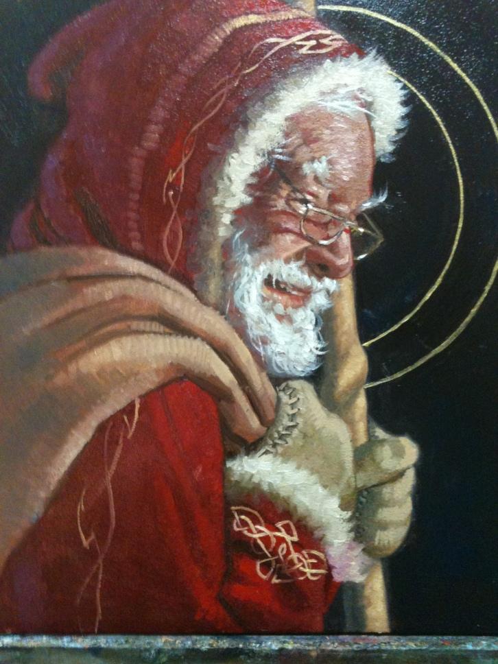 Santa - Oil Painting by Nathan Pinnock