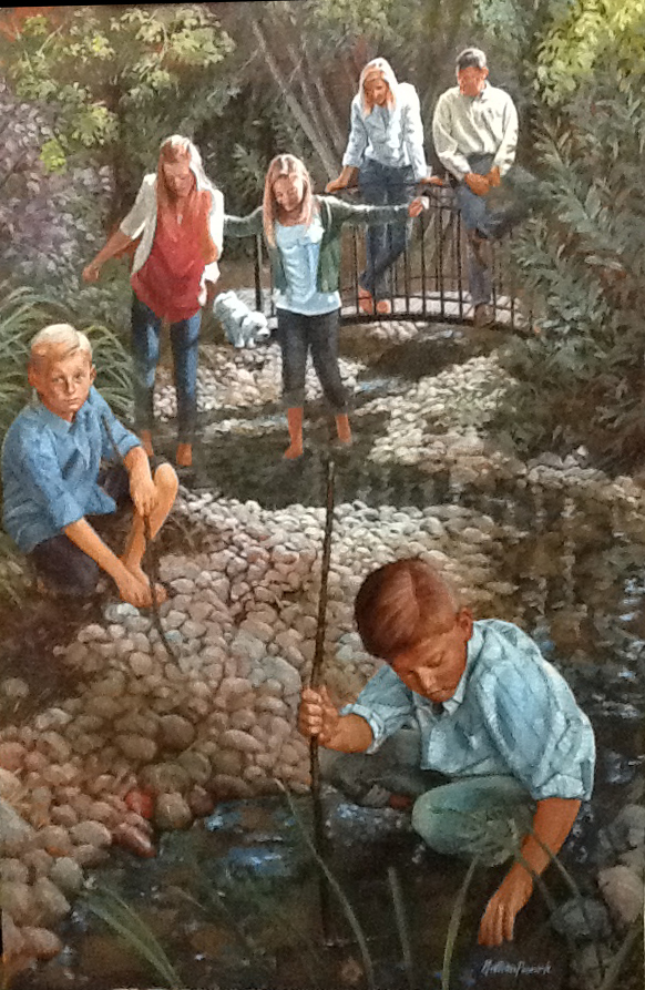 R. Family - Oil Painting by Nathan Pinnock