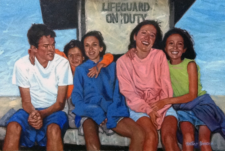 W. Family - Oil Painting by Nathan Pinnock
